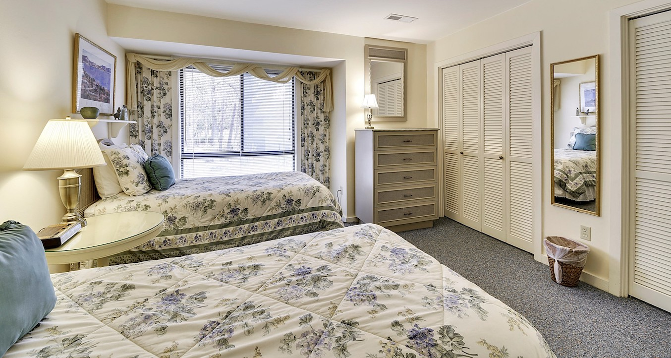 Double Closets, Wall Mounted TV